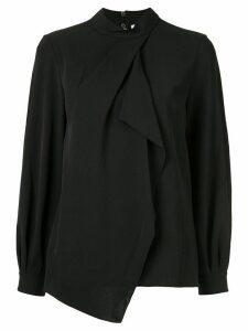 PortsPURE asymmetric long-sleeved blouse - Black