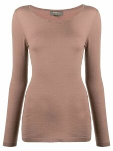 N.Peal long-sleeved cashmere top - Brown