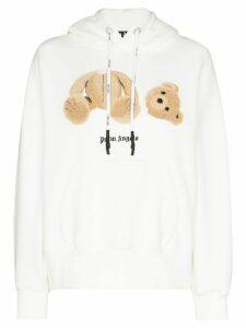 Palm Angels teddy bear hoodie - White