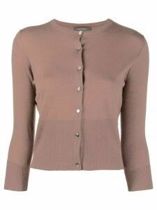 N.Peal cropped cashmere cardigan - Brown