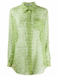Acne Studios floral-print chiffon blouse - Green