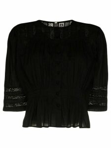 MIMI PROBER Barton lace panelled blouse - Black