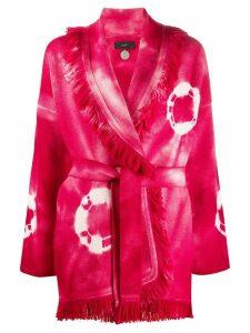 Alanui fringed tie-dye cardigan - PINK