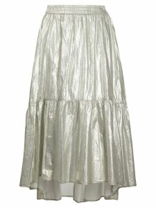 8pm lamé tiered skirt - GOLD