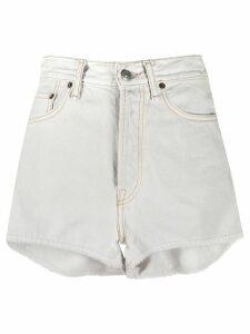 Acne Studios high-rise denim shorts - Blue