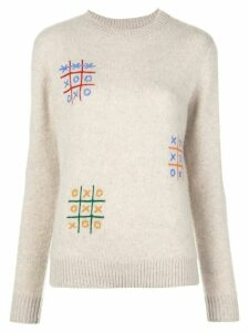 The Elder Statesman cashmere long sleeve jumper - NEUTRALS