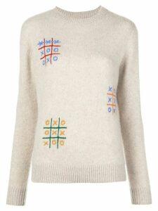 The Elder Statesman cashmere long sleeve jumper - NEUTRALS