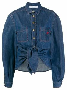 Philosophy Di Lorenzo Serafini denim tie front shirt - Blue