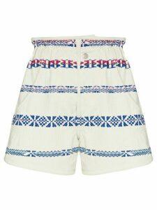 Isabel Marant Baixa embroidered shorts - White