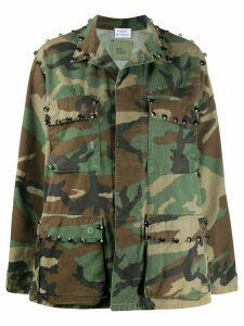 P.A.R.O.S.H. Commando camouflage-print jacket - Green