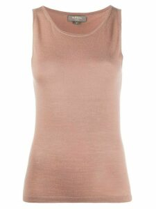 N.Peal sleeveless cashmere top - Brown