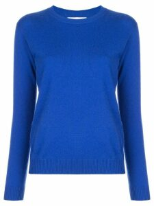 Alexandra Golovanoff fine knit crew neck jumper - Blue