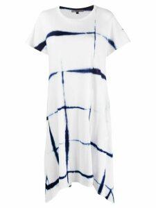 Suzusan tie-dye T-shirt dress - White