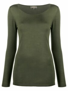 N.Peal long sleeved cashmere top - Green