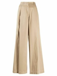 Brunello Cucinelli high-waisted palazzo trousers - NEUTRALS