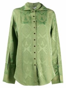 Acne Studios paisley-jacquard shirt - Green