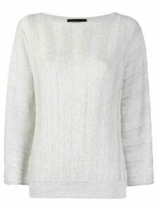Fabiana Filippi stripe-textured relaxed-fit sweatshirt - Grey