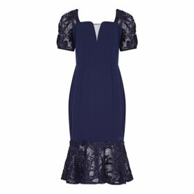 Aidan Mattox Cocktail Dress With Lace