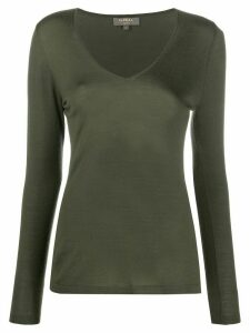 N.Peal V-neck cashmere jumper - Green