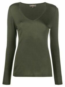 N.Peal V-neck cashmere jumper - Green