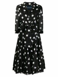 Samantha Sung Aster dotted-print shirt dress - Black