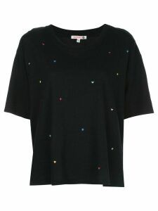 Sundry cropped sleeve boxy T-shirt - Blue