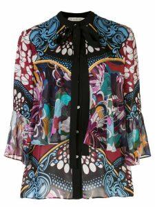 Mary Katrantzou Milana baroque floral print blouse - Black