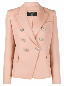 Balmain fitted double-breasted blazer - NEUTRALS
