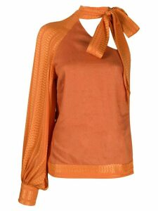 Zeus+Dione one-shoulder blouse - ORANGE