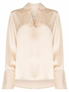 USISI Catarina split sleeve satin blouse - NEUTRALS