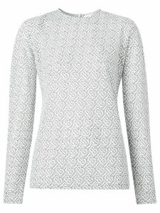 Burberry monogram pattern blouse - White
