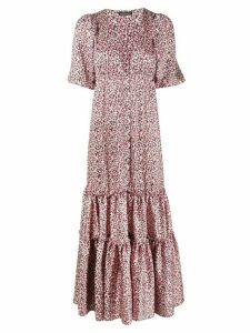 Wandering floral-print tiered maxi dress - PINK