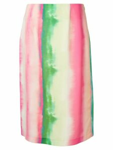 Goen.J Watercolor Gradient Striped midi skirt - Multicolour