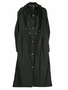 3.1 Phillip Lim utility parachute duster raincoat - Black