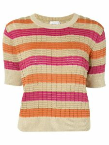 Suboo striped knitted top - ORANGE