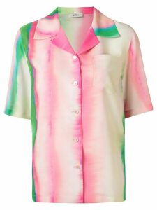 Goen.J watercolour stripe print shirt - Multicolour