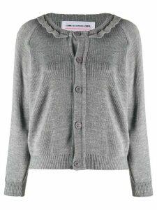 Comme Des Garçons Girl frill trimmed cardigan - Grey