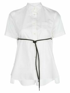 Sacai front-tie short sleeve shirt - White