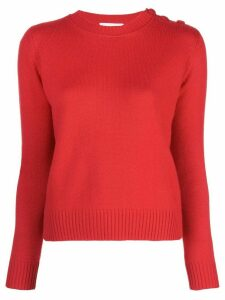 Alexandra Golovanoff fitted knit jumper - Red