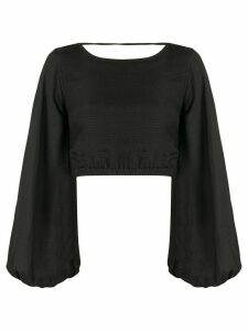 Sir. Indre lace-up back blouse - Black