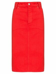 Kwaidan Editions denim pencil skirt - Red