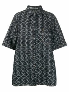 Acne Studios Pinecone-jacquard denim shirt - Blue