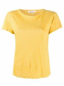 FRAME linen short sleeve T-shirt - Yellow