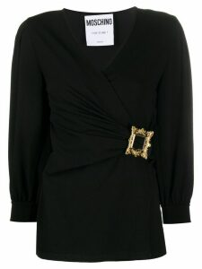 Moschino wrap buckled blouse - Black