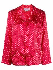 Comme Des Garçons Girl polka-dot fitted shirt - Red