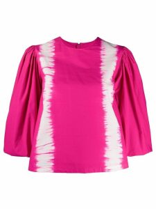 MSGM puff-sleeved tie-dye top - PINK