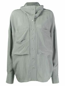 Acne Studios funnel neck overshirt - NEUTRALS