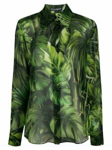 Dolce & Gabbana jungle print shirt - Green