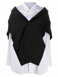 Junya Watanabe layered blazer shirt - Black