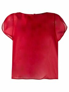 Giorgio Armani sheer short sleeve top - Red